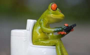 Toilettenhocker Verstopfung