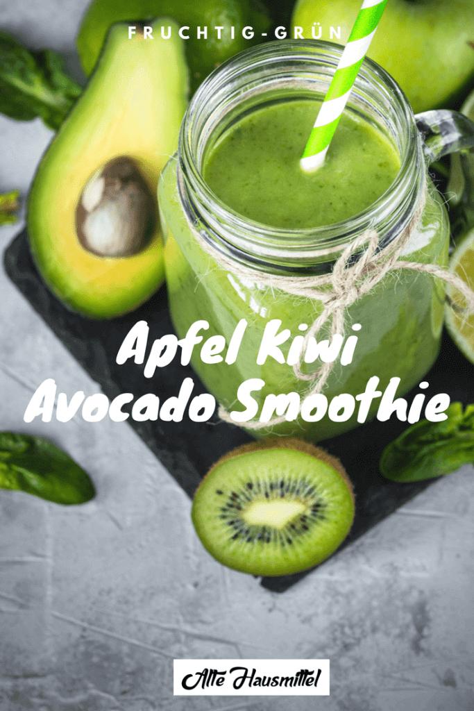 Apfel kiwi avocado smoothie