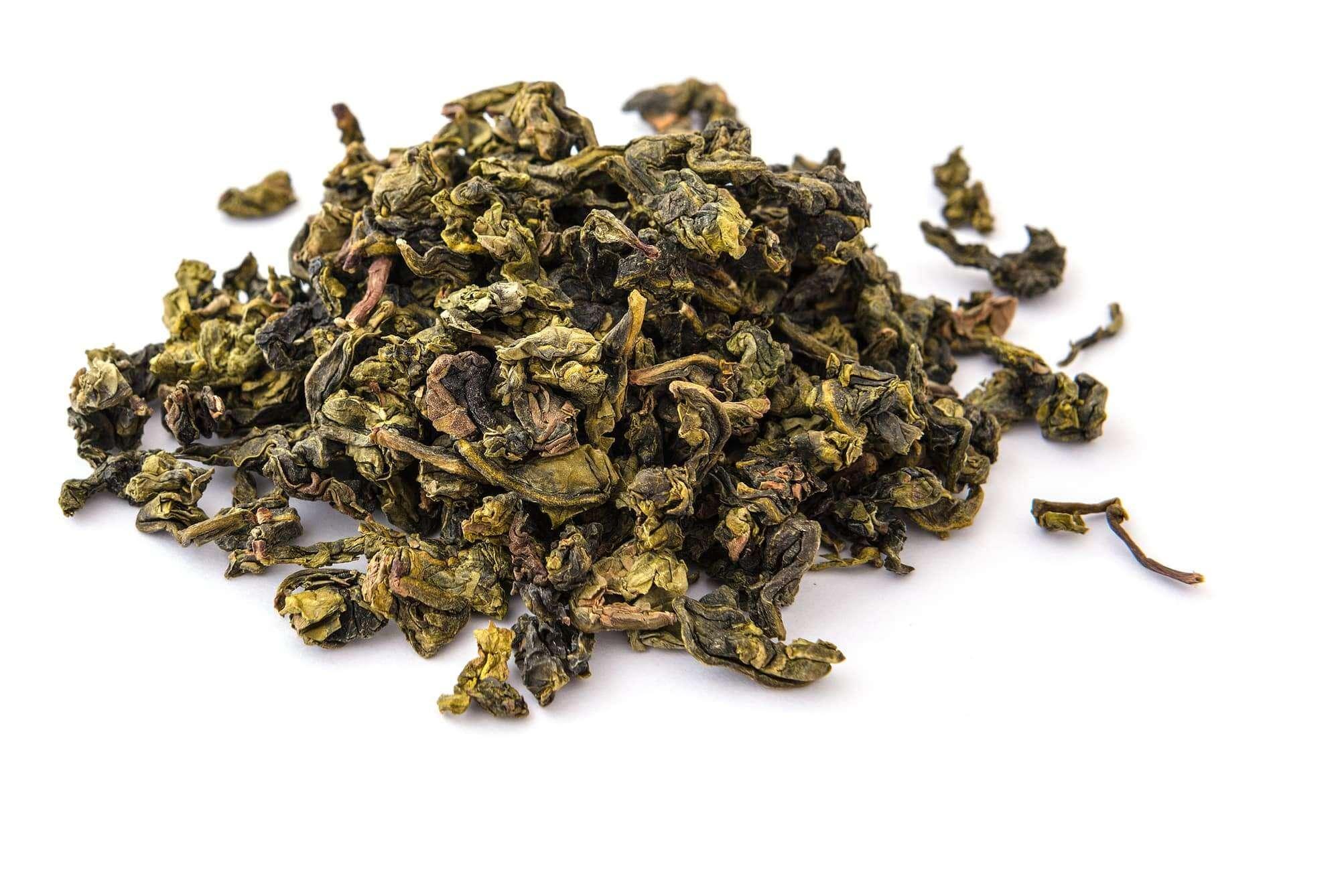 Haufen Oolong-Tee