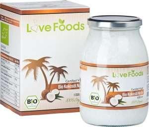 Love Foods Packung und Glas