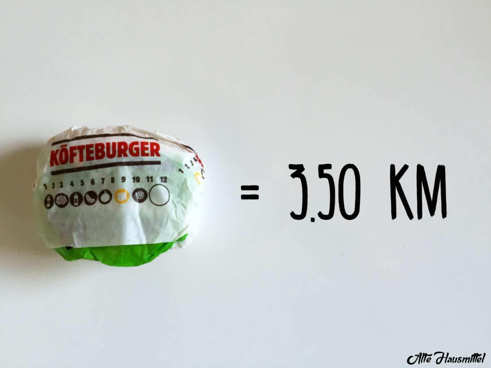 wie lange joggen um hamburger zu verbrennen