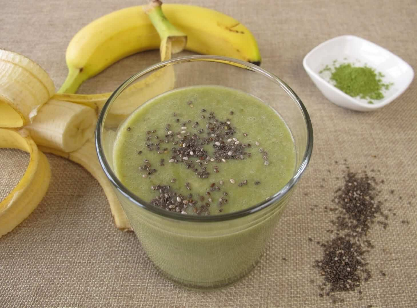 Matcha bananen smoothie