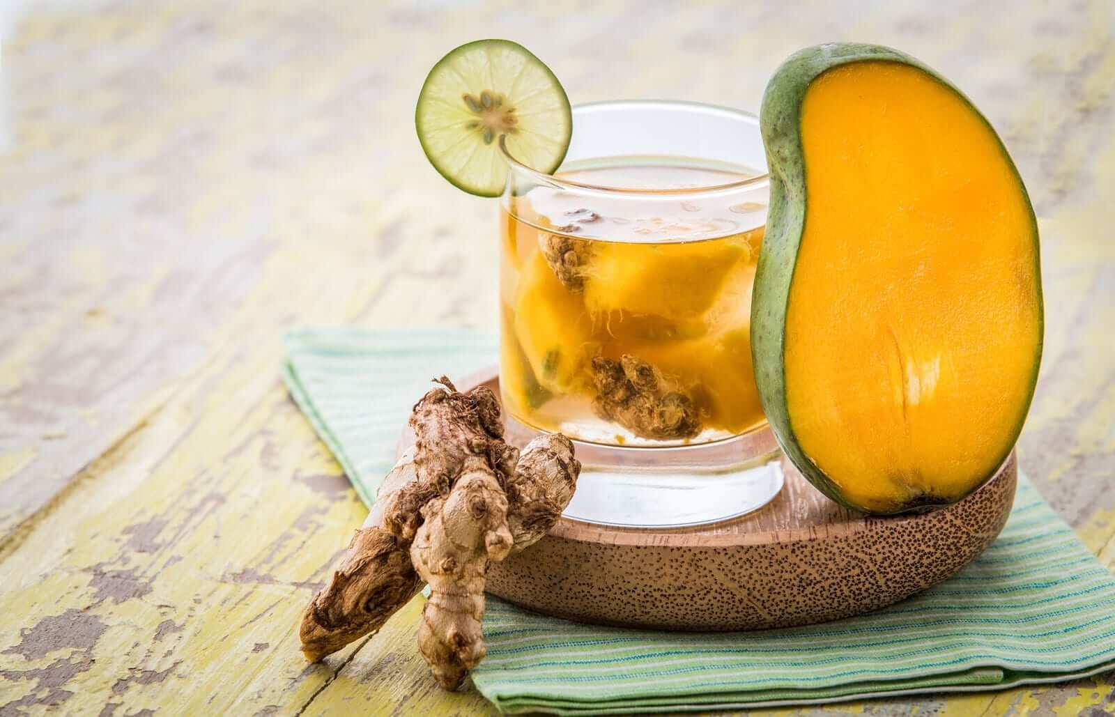 Mango Ingwer Detox Wasser