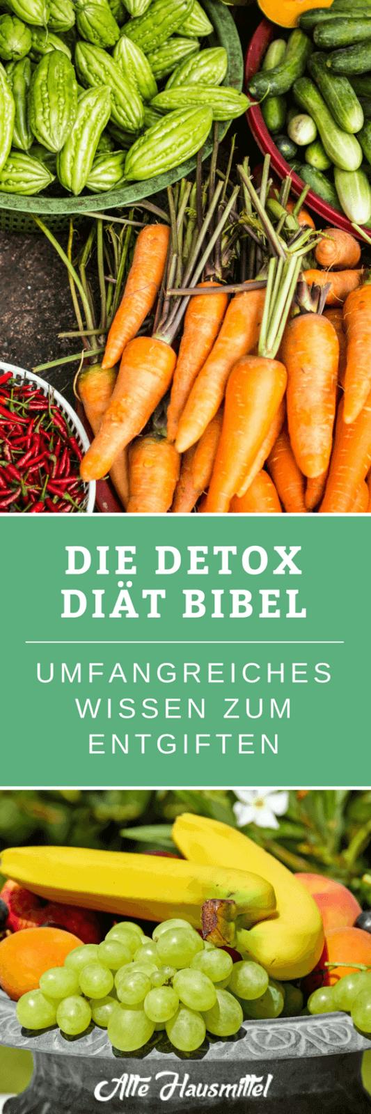 Die Detox Diät- Umfangreichster Artikel über Entgiften ✓ Wie Sie eine erfolgreiche Detox Diät starten ✓ Endlich gesund entgiften & den Körper entschlacken ✓