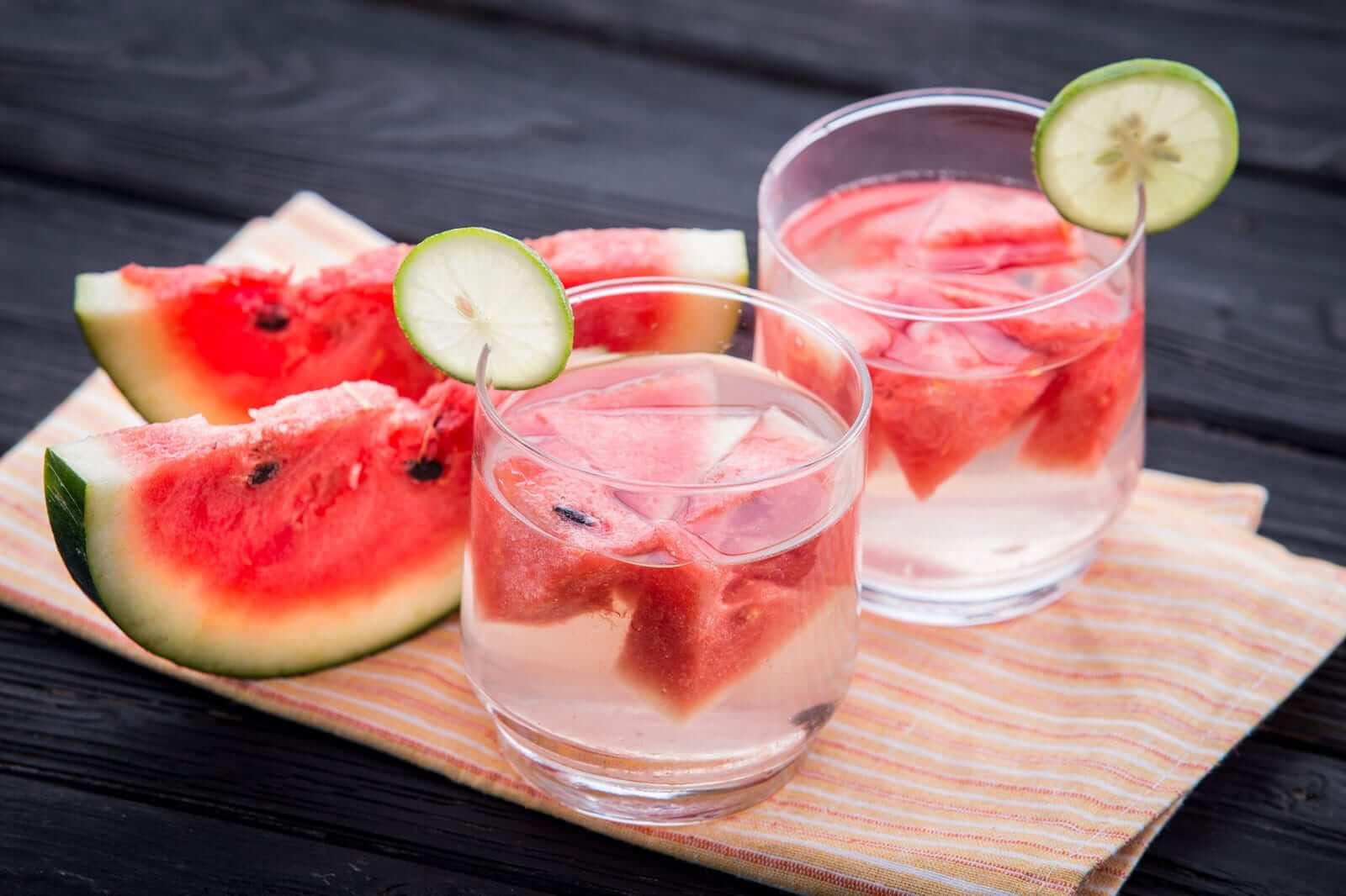 Wassermelonen Rezepte Detox Wasser