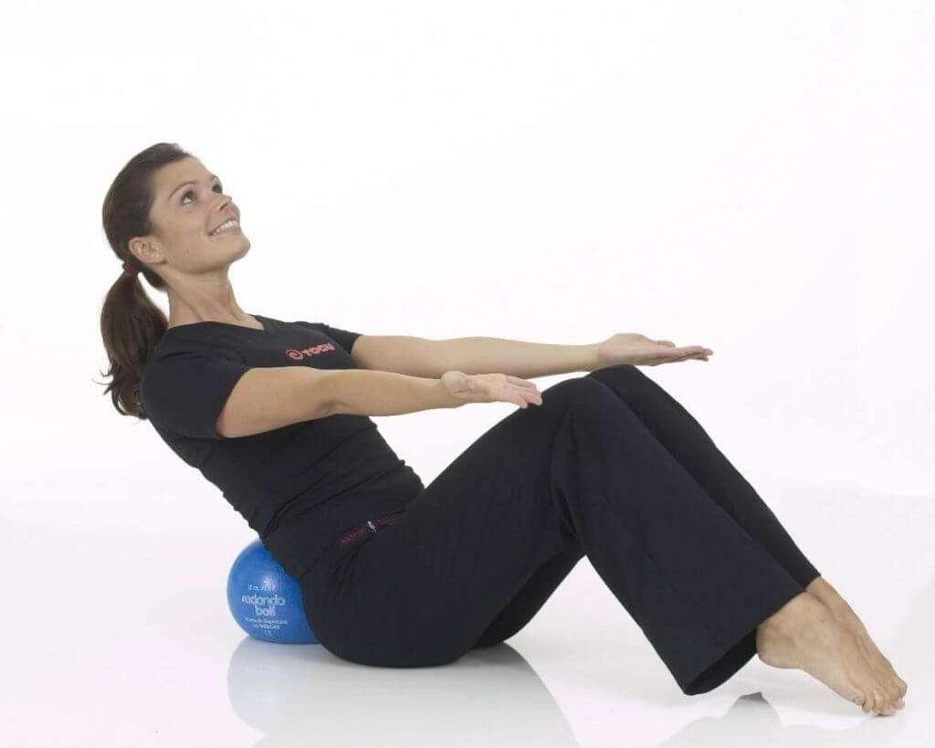 Bauch-, Beckenboden- und Lendenmuskulatur Übungmit Ball