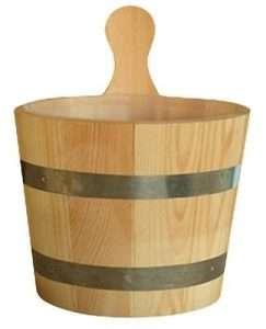 Saunakübel für die Sauna zu Hause