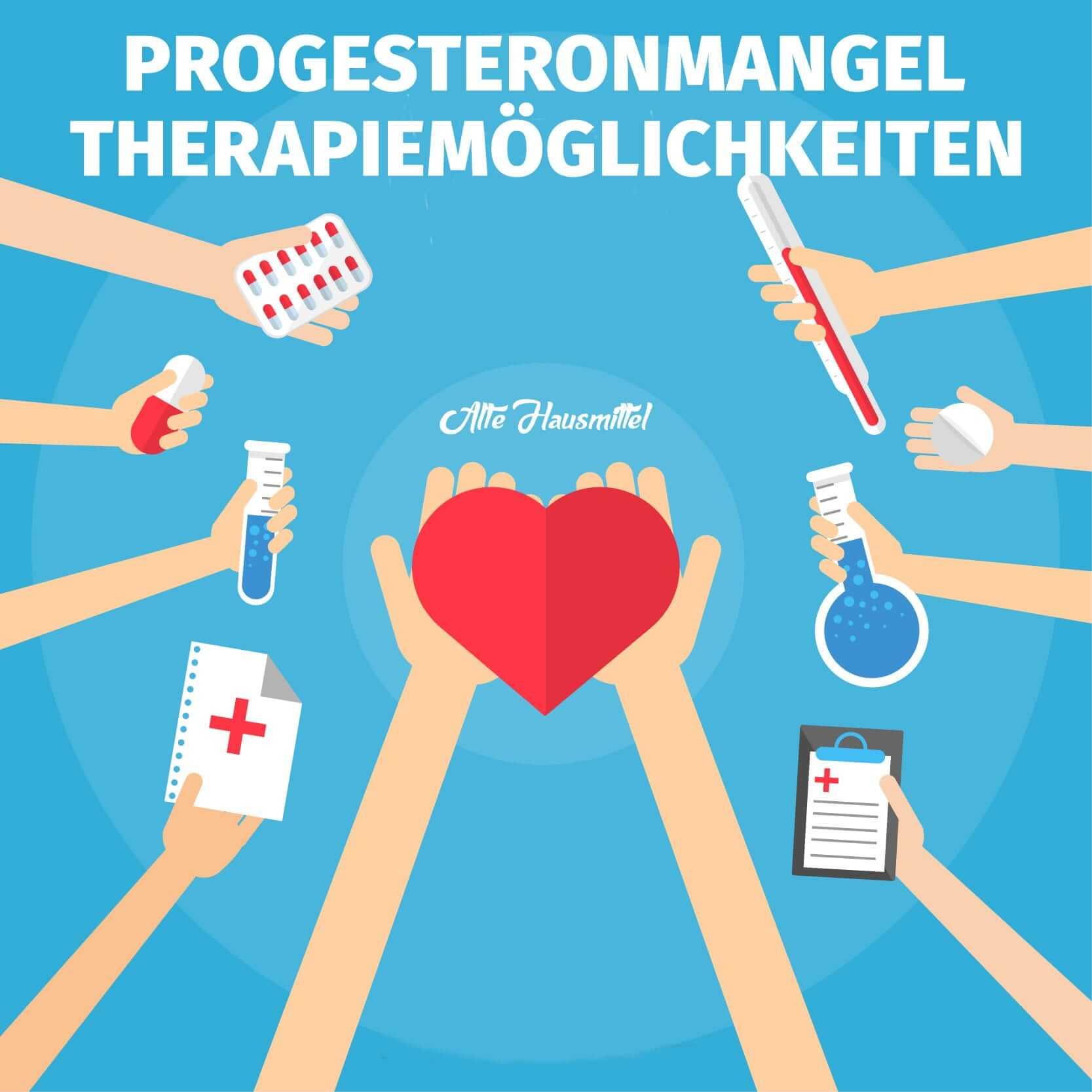 Titelbild Progesteronmangel Therapiemöglichkeiten