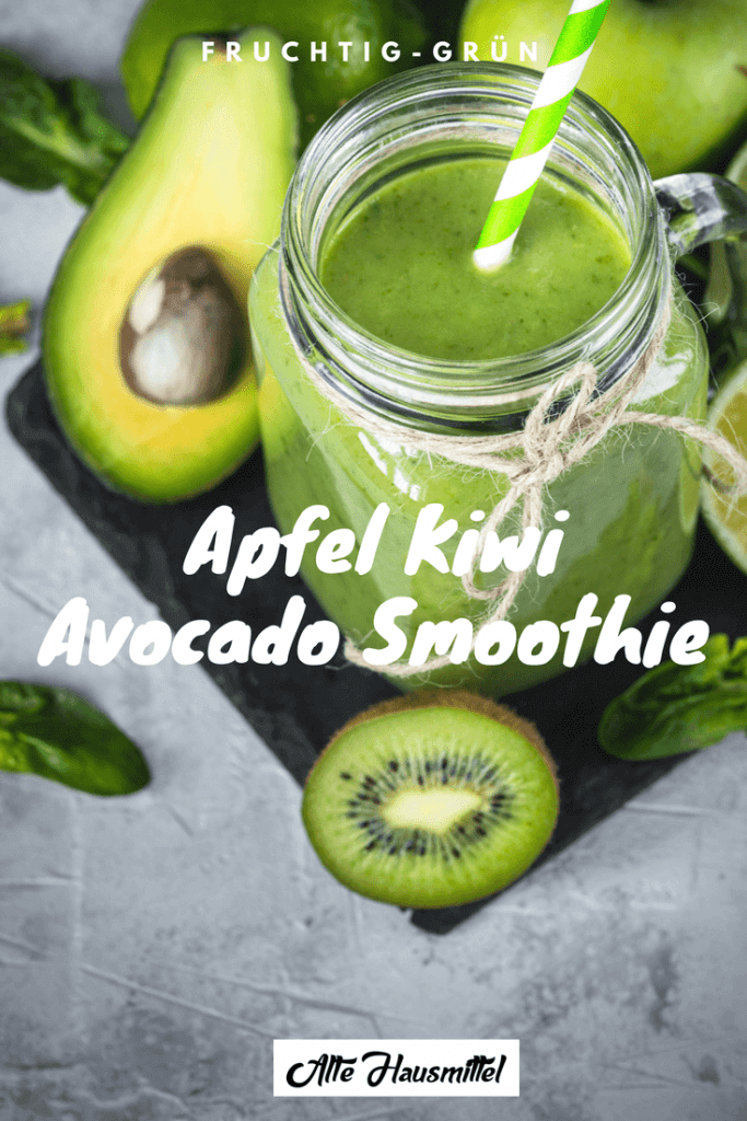 Apfel kiwi avocado smoothie