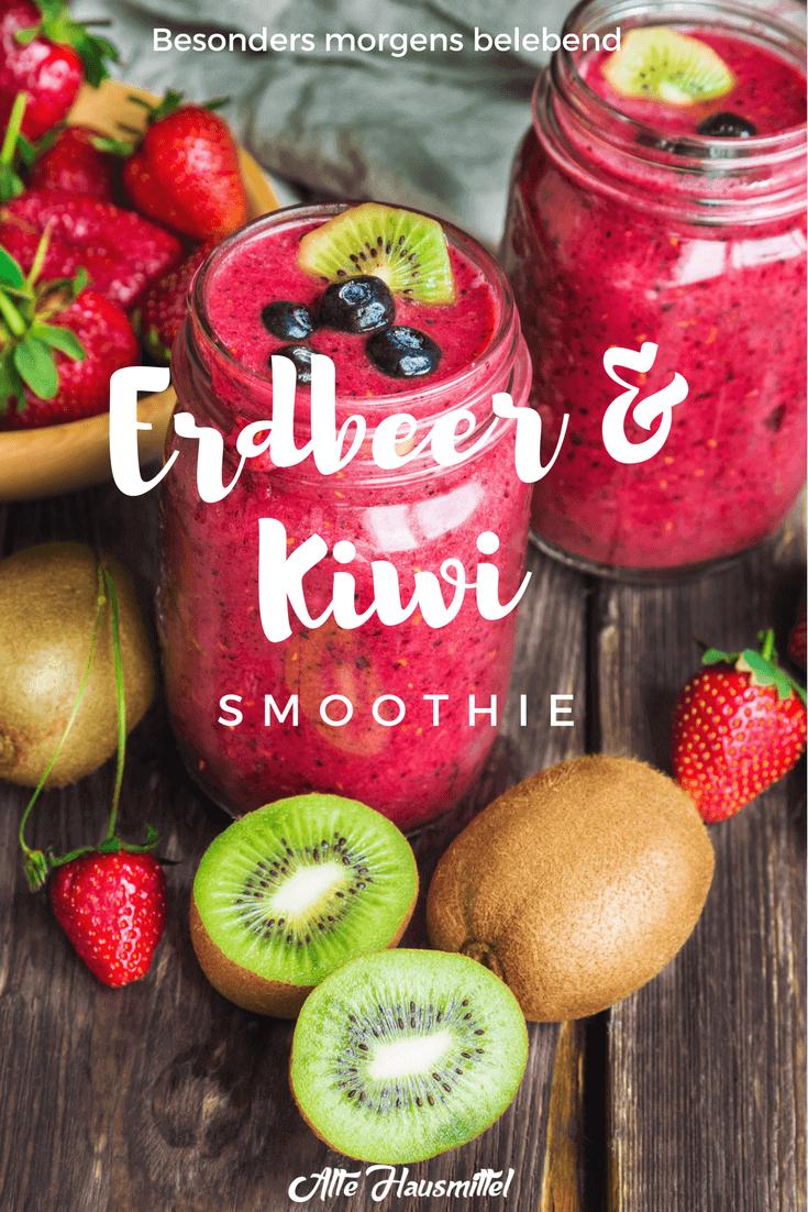 Erdbeer Kiwi Smoothie