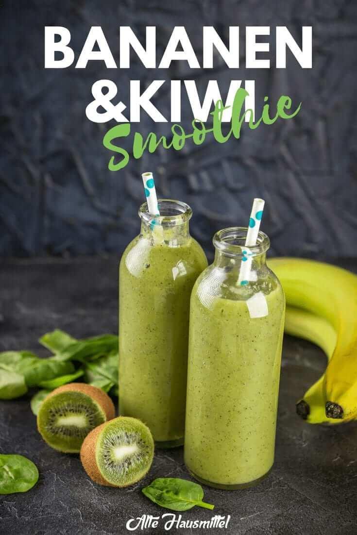 Bananen und kiwi smoothie
