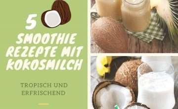 smoothie rezepte mit kokosmilch