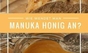 Manuka Honig Anwendung
