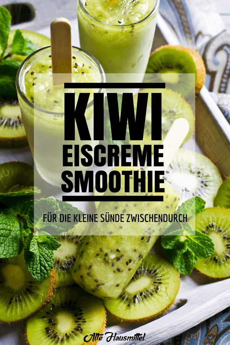Kiwi eiscreme smoothie