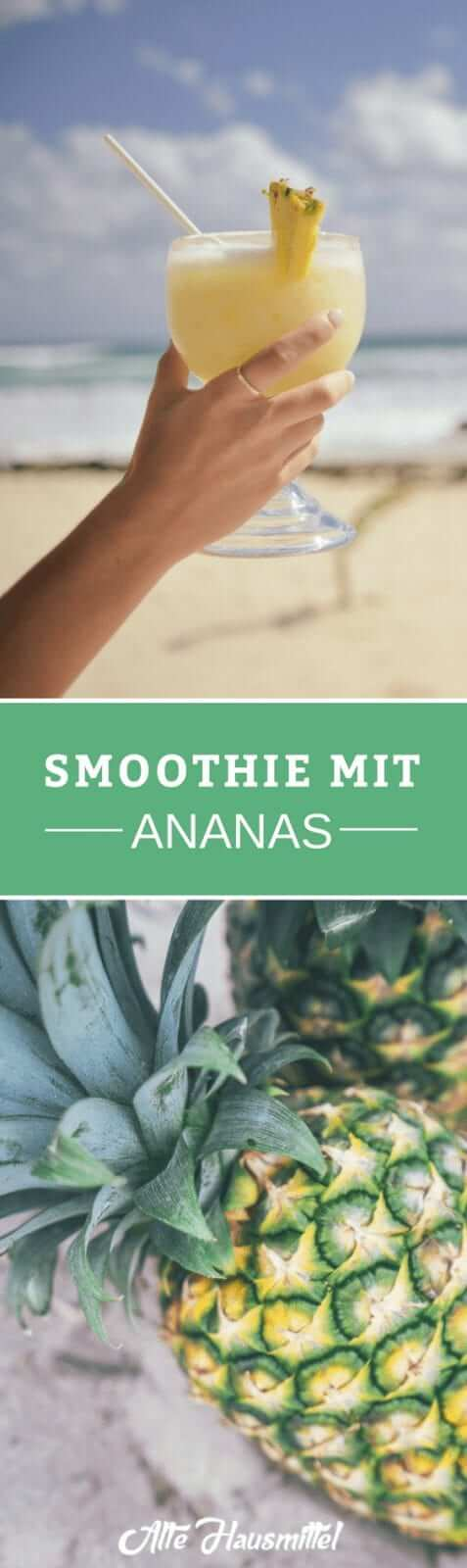 Smoothie mit Ananas