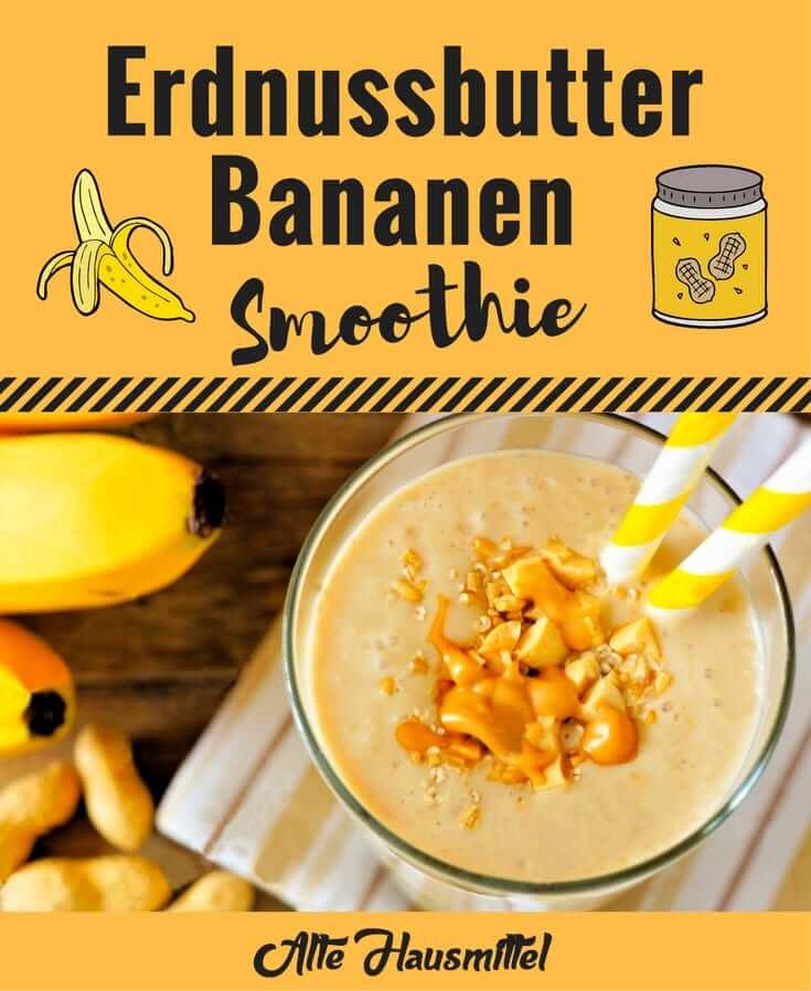 Erdnussbutter Bananen Smoothie