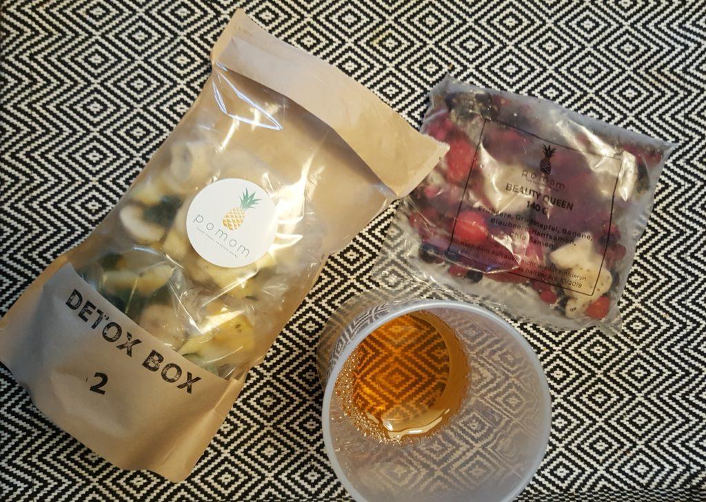 Apfelsaft mit Pomom Detox Paket