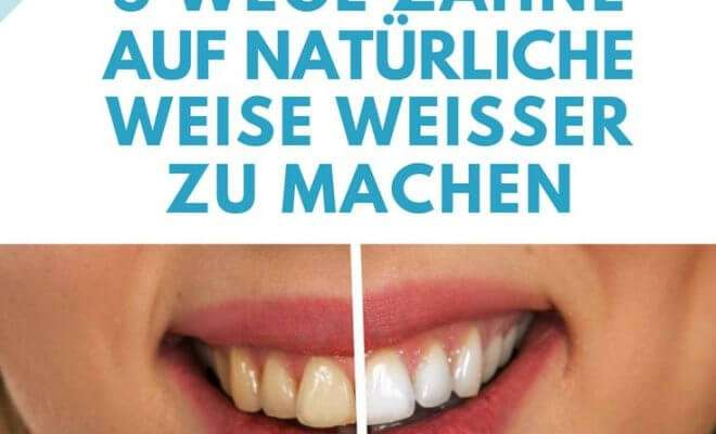 Hausmittel für weiße Zähne