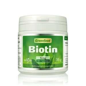 Greenfood Biotin 5 mg