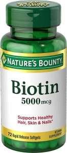Nature's Bounty Biotin 5000 mcg