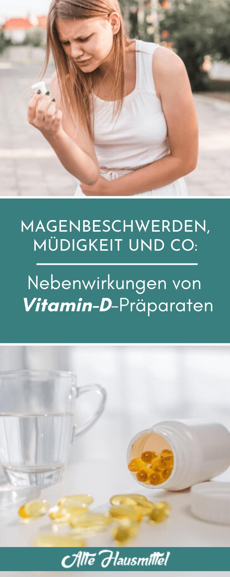 Magenbeschwerden, Müdigkeit und Co: Nebenwirkungen von Vitamin-D-Präparaten