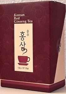 Koreanischer roter Ginseng im Teebeutel von Korean Red Ginseng Tea
