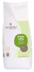 Argiletz Grüne Tonerde, extrafein, 1Kg