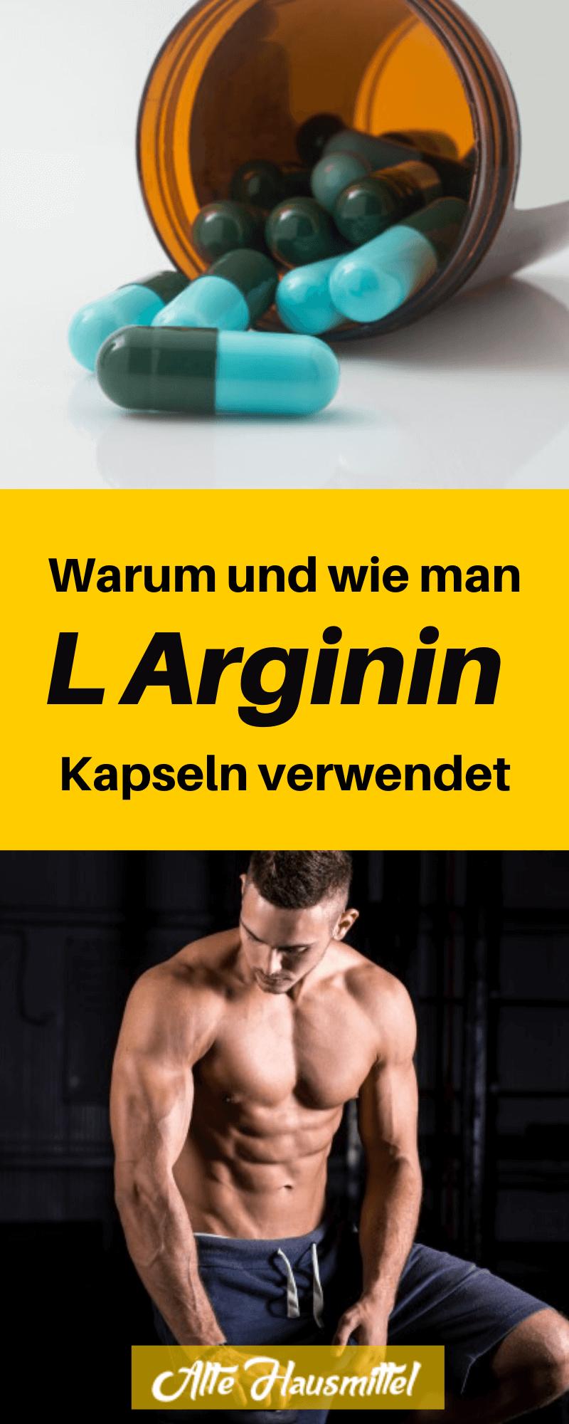 Warum und wie man L Arginin Kapseln verwendet