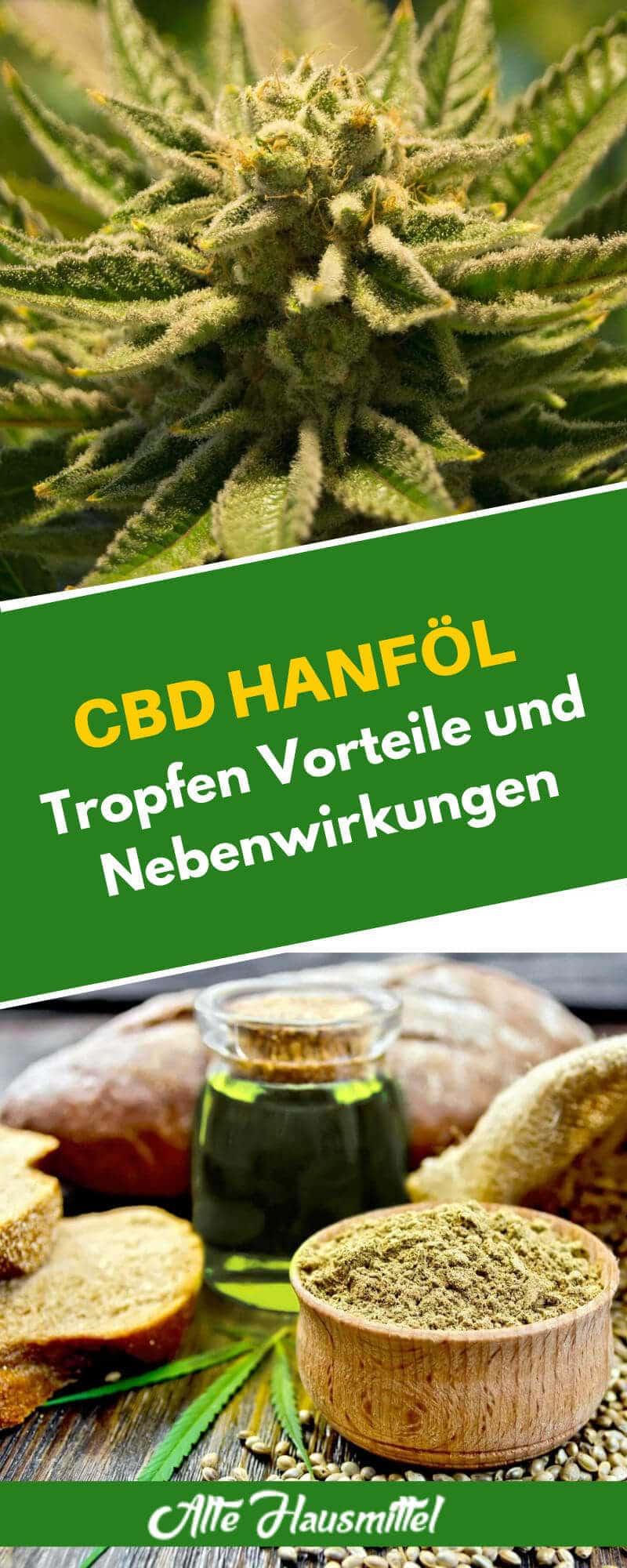 CBD Hanföl Tropfen Vorteile und Nebenwirkungen